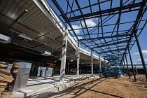Stavba obchodního centra Aventin.