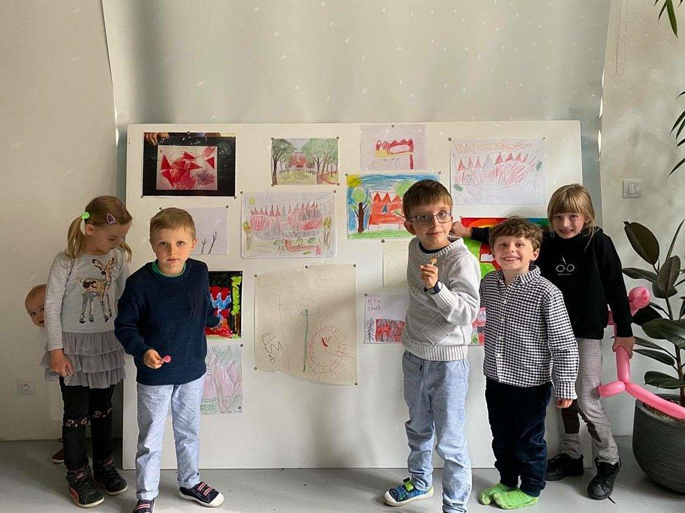 Takhle Horáckou multifunkční arénu ztvárnily děti.