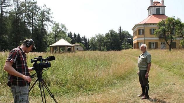 Natáčení ve Stonařově.