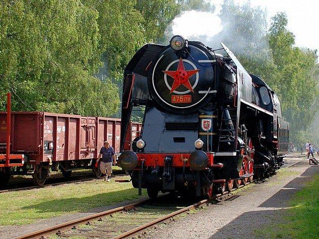 Parní lokomotiva, ilustrační foto.