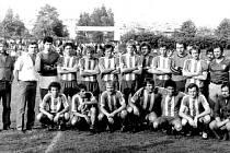 Ve druhé polovině osmdesátých let minulého století se psala asi nejslavnější éra fotbalu ve Žďáře nad Sázavou. Z této doby pochází foto účastníka druhé národní ligy.