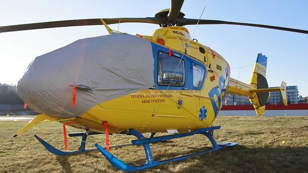Nový vrtulník letecké záchranky.