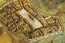 Pohled do minulosti. Model zachycuje Jihlavu kolem roku 1300.