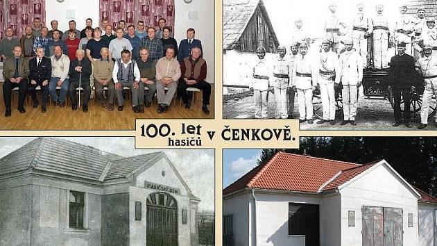Pohlednice hasičů z Čenkova.