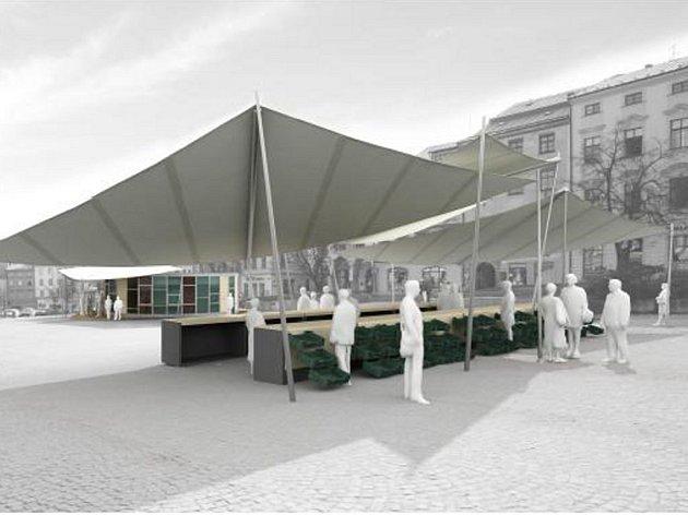 Vítězná studie umístění tržnice na Masarykovo náměstí