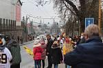 Odjezd hokejové Dukly Jihlava sledovaly stovky jejích příznivců.