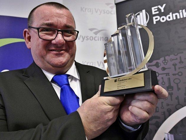 Rudolf Penn. Majitel akciové společnosti Moravské kovárny se stal Podnikatelem roku 2015 v Kraji Vysočina.