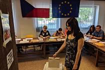 V Domově mládeže v jihlavské Žižkově ulici bývá dle komise zájem o volby vysoký. Nejinak tomu je letos.