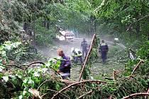 Sobotní podvečerní bouřka zanechala v okolí Horních Dubenek mnoho nepřehlédnutelných škod. Rozmar počasí se negativně podepsal také na železnicích.