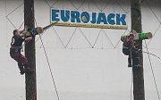Finále mezinárodního klání dřevorubců Eurojack Jihlava 2018.
