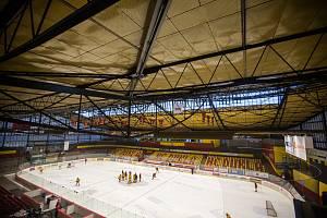 Stav Horáckého zimního stadionu.