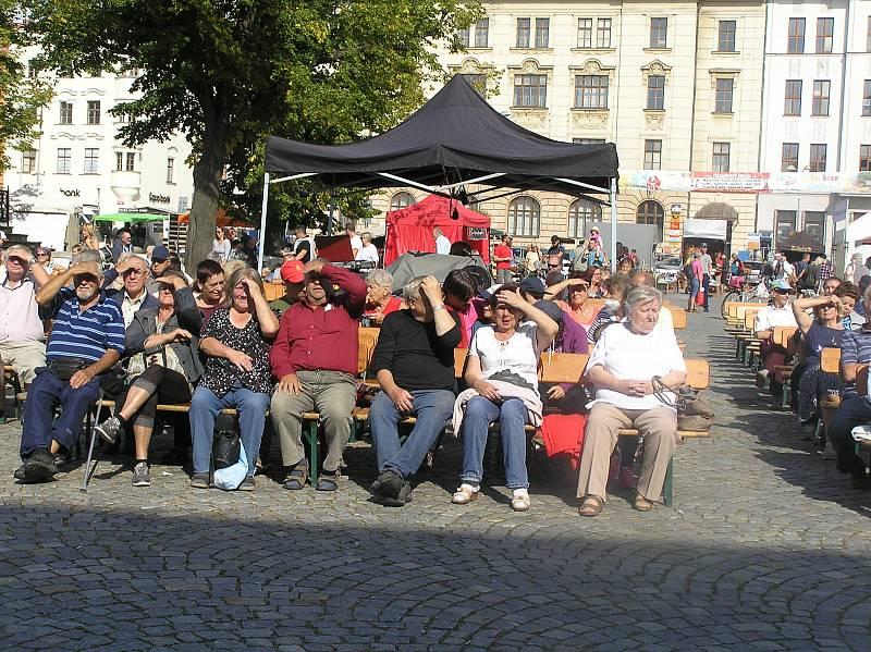 Vyhlášení soutěže Regionální potravina Vysočiny na Masarykově náměstí v Jihlavě