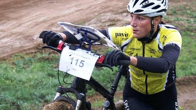 Renata Paulíčková v nejobtížnější pasáži závodu.