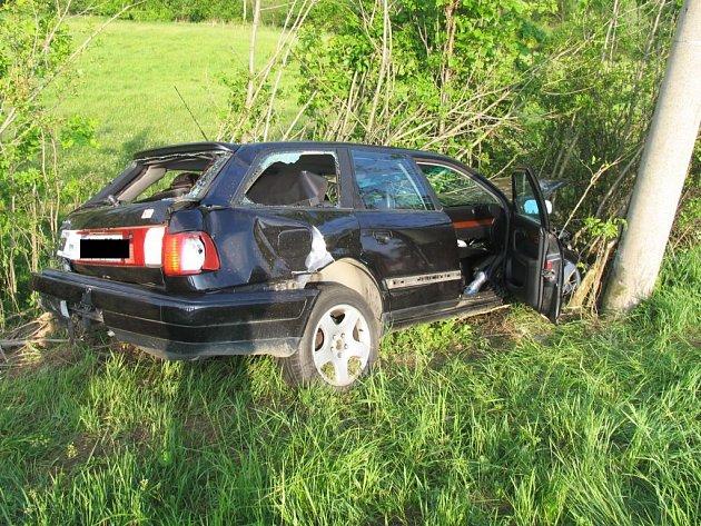 Autonehoda u obce Vílanec na Jihlavsku.