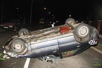 K ošklivě vypadající  nehodě došlo v ulici S. K. Neumanna v Jihlavě.