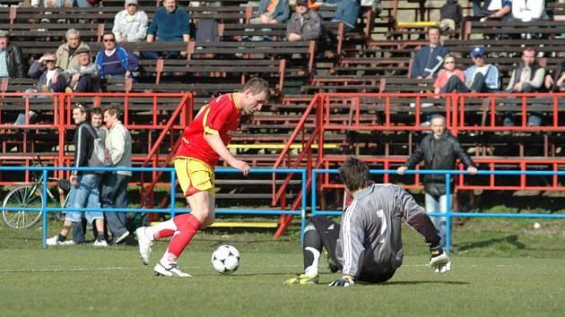 Fotbalová Juniorka FC Vysočina v utkání proti Brumovu.