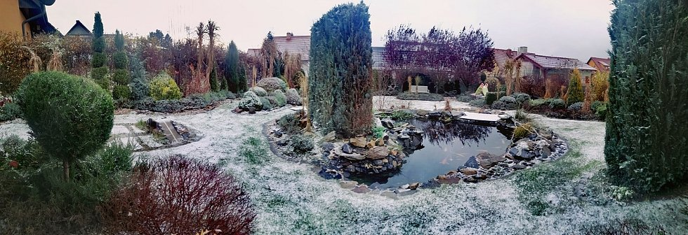 Sněžení neminulo ani Nové Veselí na Žďársku.