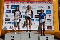 Michaela Srbová (vpravo) byla na mistrovství České republiky dvakrát bronzová.