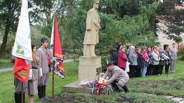 Jihlava si včera připomněla vznik samostatného Československa. Státní svátek připadá na 28. října.