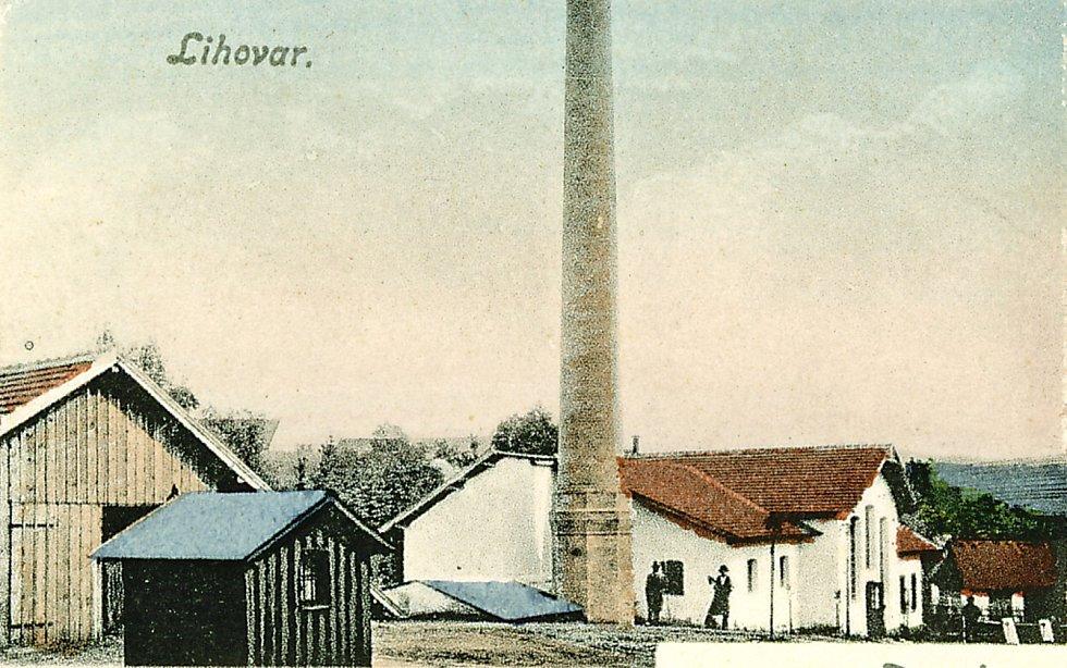 Bývalý kamenický lihovar. Rok 1917.