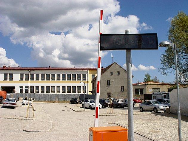 Pohled na areál Motorpalu v Telči