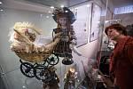 Výstava Kočárky babičky Boženky v jihlavském Muzeu Vysočiny.
