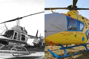 Letecká záchranná služba v Jihlavě před lety a dnes.