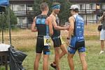 Jihlavský triatlon přilákal několik desítek  účastníků.