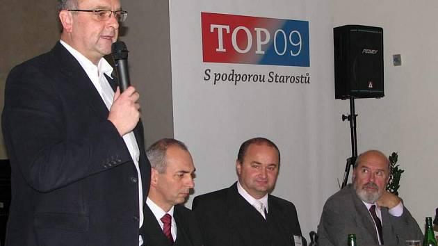 Ustavující sněm TOP 09 na Vysočině zvolil svým předsedou Jiřího Blažka