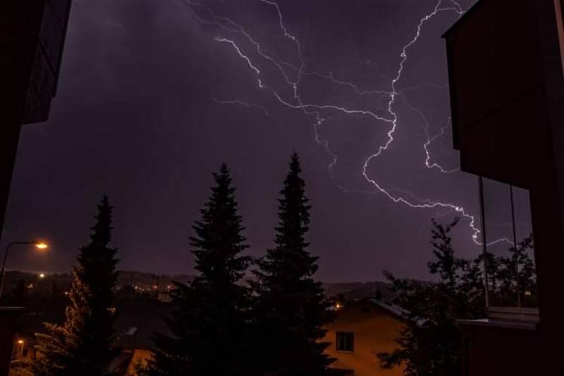 Bouřky na Vysočině