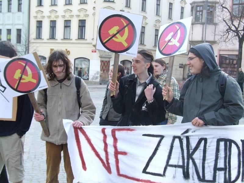Demonstrace Jihlavské autonomní mládeže.