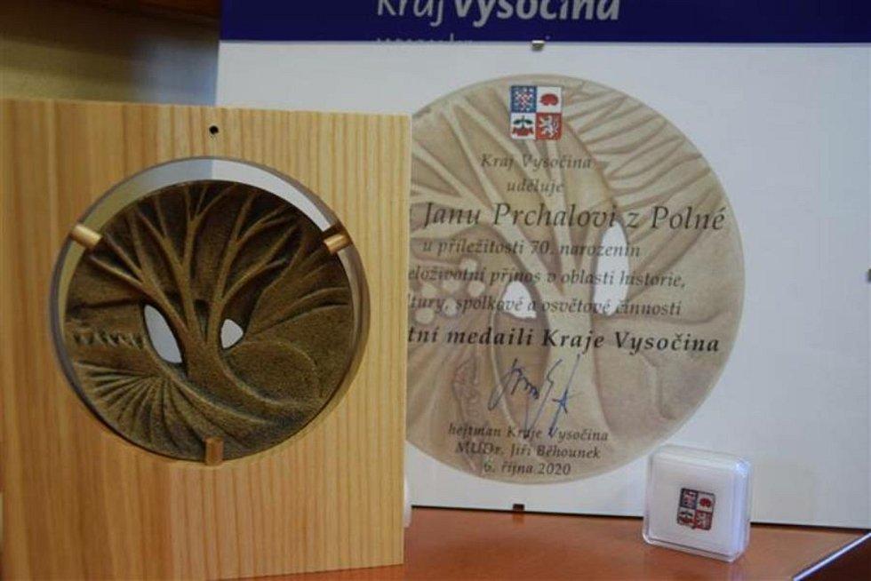 Medaile Kraje Vysočina.