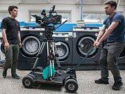 Natáčení krátkometrážního snímku s názvem Devadesát stupňů v Jihlavské prádelně.