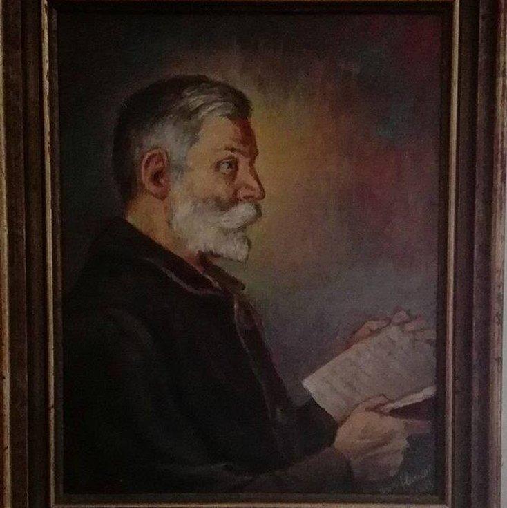 Olejomalba Josefa Floriana, vydavatele Dobrého díla. Autorem je jeho syn Jan Florian.