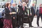 Návštěva prezidenta republiky v Kraji Vysočina v roce 2017. Setkání s občany Heřmanova, Obce roku Kraje Vysočina.