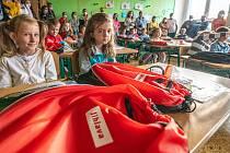 První školní den na Základní škole Demlova v Jihlavě. V krajském městě je 11 základních škol zřizovaných statutárním městem Jihlava, kam chodí celkem 5370 žáků.