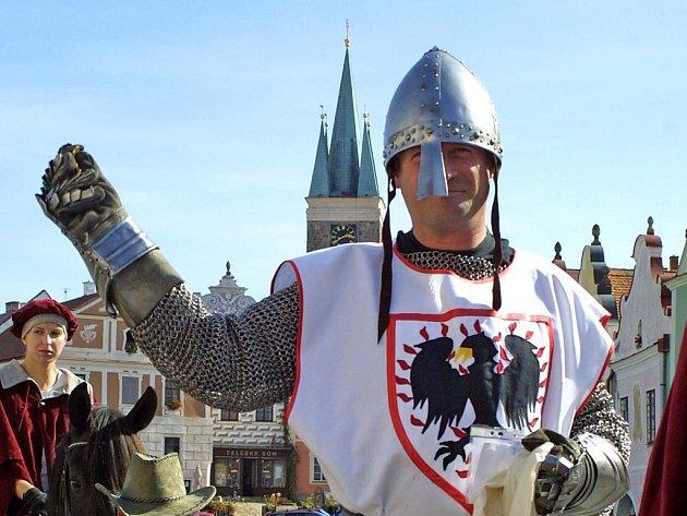 Svatý Václav přijel do Telče.