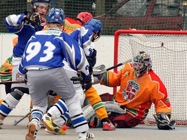Gólmani Humlíček (na snímku) i Peschout svůj tým v obou utkáních podrželi.