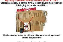 Kromě informací o motivačním programu na webu odpadyjihlavy.cz tady lidé najdou třeba i leták pro sousedku.
