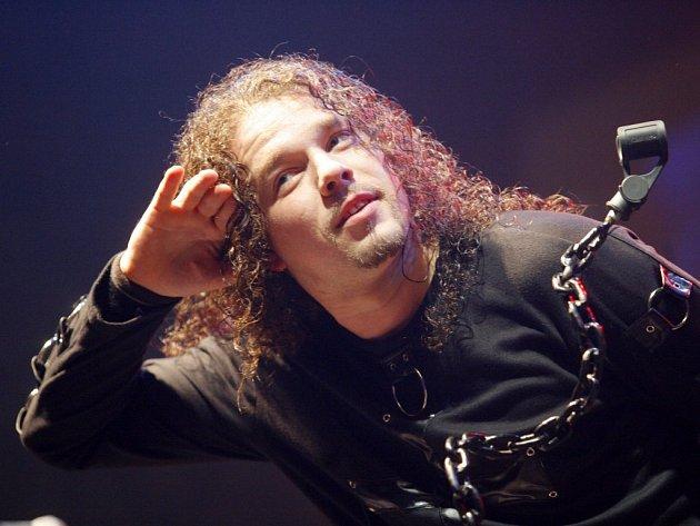 Metalová kapela Arakain. Na snímku Jan Toužimský.