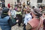 Na telčském zámku natáčí německá televize ZDF hraný dokument o reformátorovi Martinu Lutherovi.