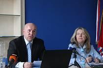 Aktuální policejní statistiky prezentovali Pavel Peňáz a Dana Čírtková.