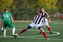 Fotbalové utkání mezi FC Slovan Havlíčkův Brod C a SK Kožlí.