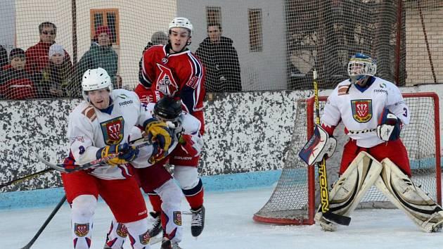 Hokej v Telči. Ilustrační foto.