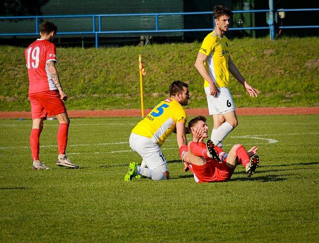 Fotbalové utkání mezi Blanskem a Jihlavou.