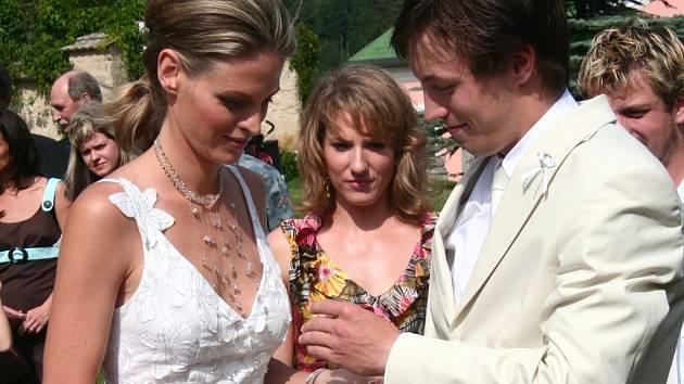 Svatba Martina Koukala a jeho snoubenky Vandy.