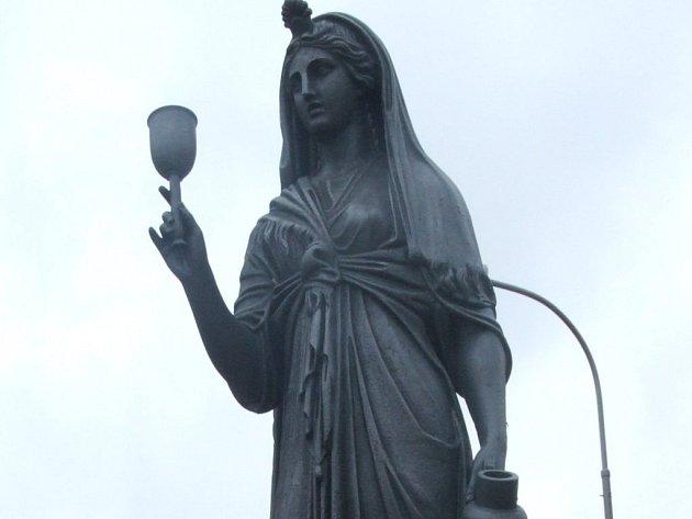 Socha Isis, řecké bohyně života a zdraví