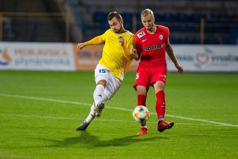 Stanislav Klobása ve žlutém dresu FC Vysočina Jihlava, který nyní opouští a míří do Rakouska.