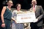 Výtěžek z koncertu, 50 tisíc korun, putovalo Urgentnímu příjmu Nemocnice Jihlava.