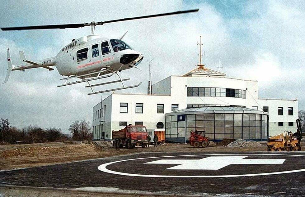 Letecká záchranná služba v Jihlavě.
